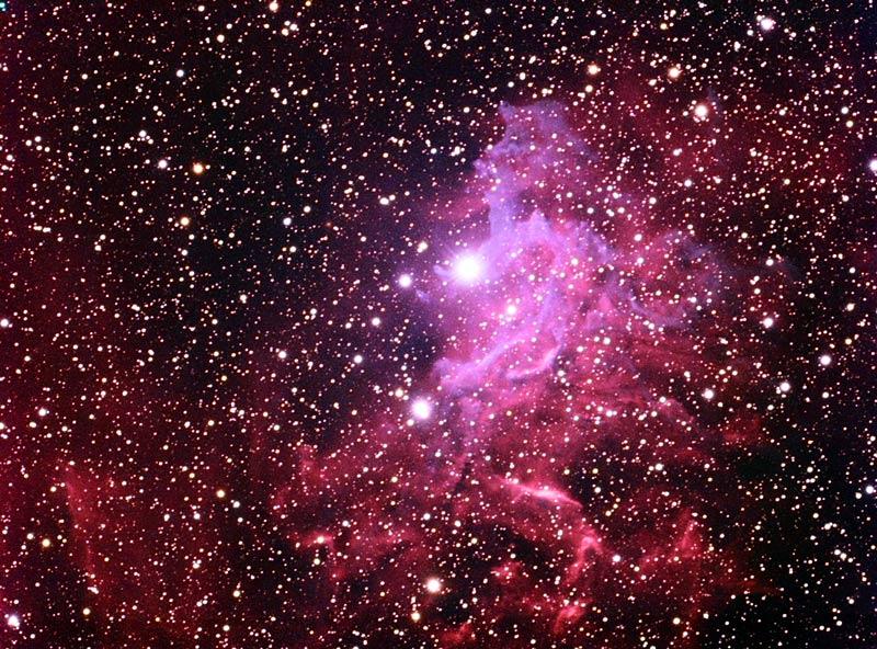 IC-405 Flaming Star Nebula - 1500 Light Years